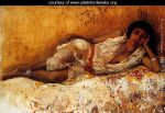 Moorish-Girl-Lying-On-A-Couch--Rabat--Morocco-large