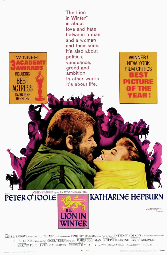 The lion in winter Peter O/'Toole movie poster print #5